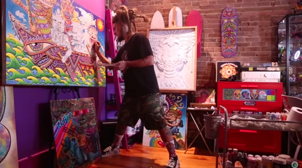 Valhalla Movement: Inside The Positive Portal Art Studio