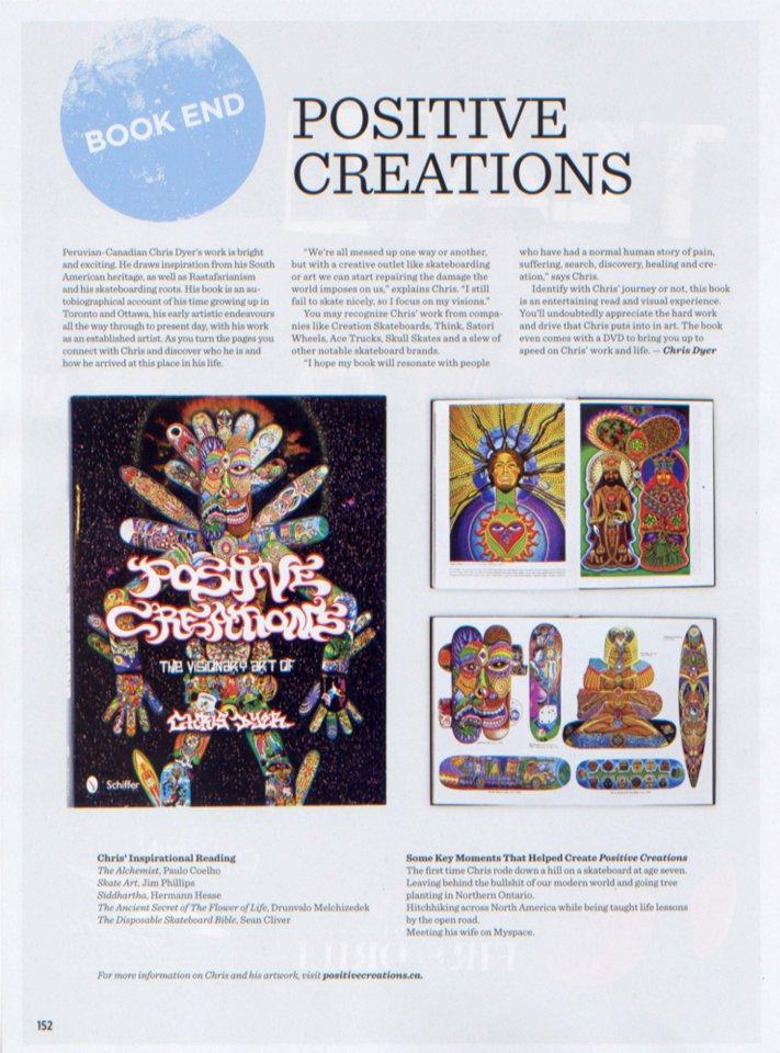 Visionary Art of Chris Dyer Book in SBC Skateboard Magazine